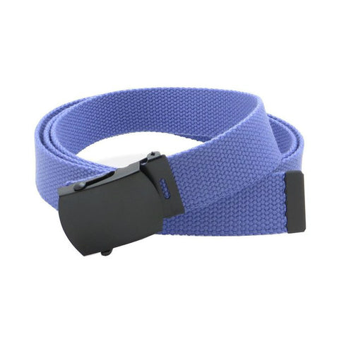 Light Purple Military Style Web Belt With Black Buckle and Tip
