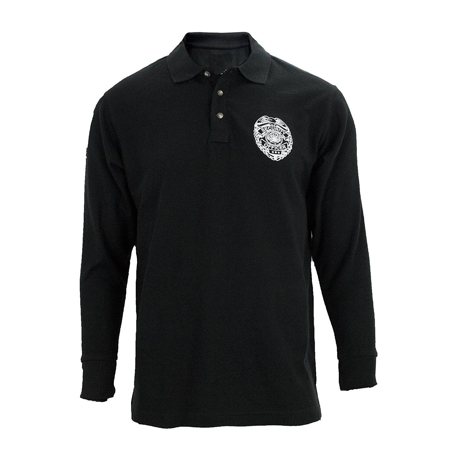 Long Sleeve Security Badge Polo Black