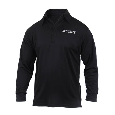 Cotton Long Sleeve Security Polo Black