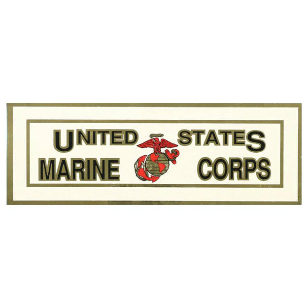 Marine EGA Metallic Bumper Sticker