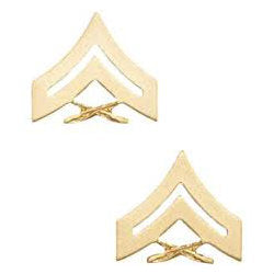 Marine Corporal Rank No Shine (Pair)