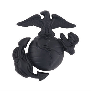Marine Enlisted Service Cap Device Black (Large)