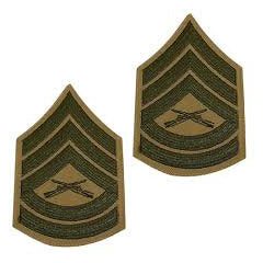 Marine Green / Khaki Gunnery (Gunny) Sergeant Chevron Set Female (1 Pair)