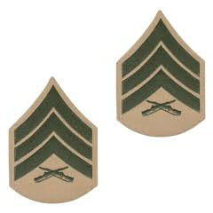 Marine Green / Khaki Sergeant Chevron Set Female (1 Pair)