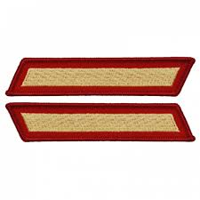 Marine Male Gold / Red 1 Service Stripe Pair
