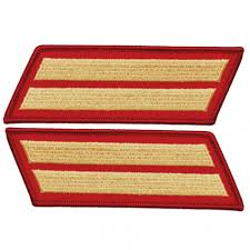 Marine Male Gold / Red 2 Service Stripe (8 Years) Pair