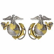 Marine Officer Dress Collar Device No Shine (1 Pair)