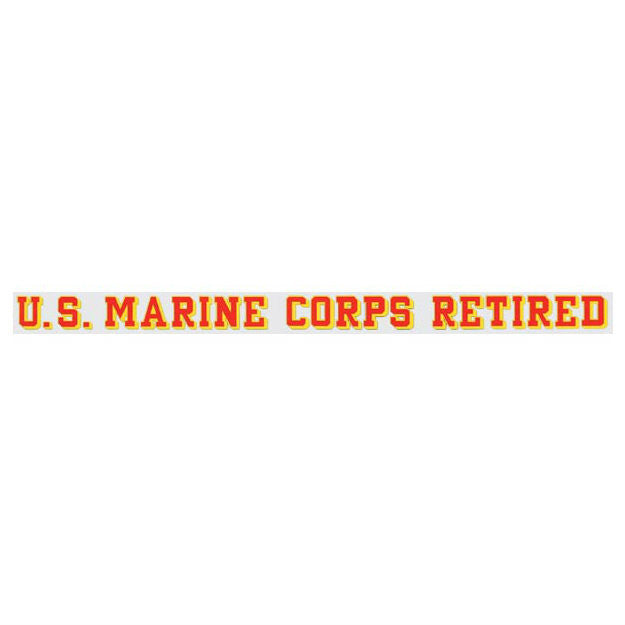 Marine Retired Window Strip Decal