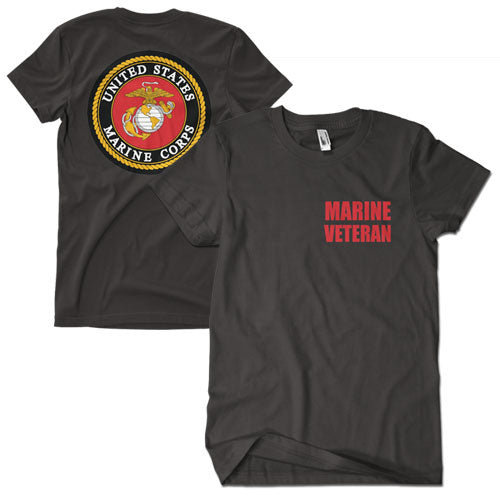 Marine Veteran T-Shirt Black