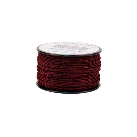 125Ft 1.18mm Micro Cord Maroon - Indy Army Navy