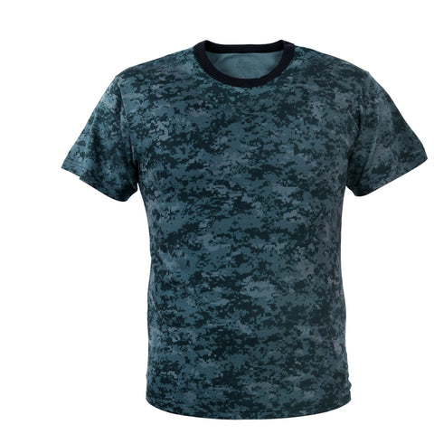 Midnight Blue Digital Camouflage T-Shirt