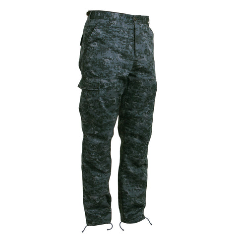 Midnight Blue Digital Camouflage BDU Pants