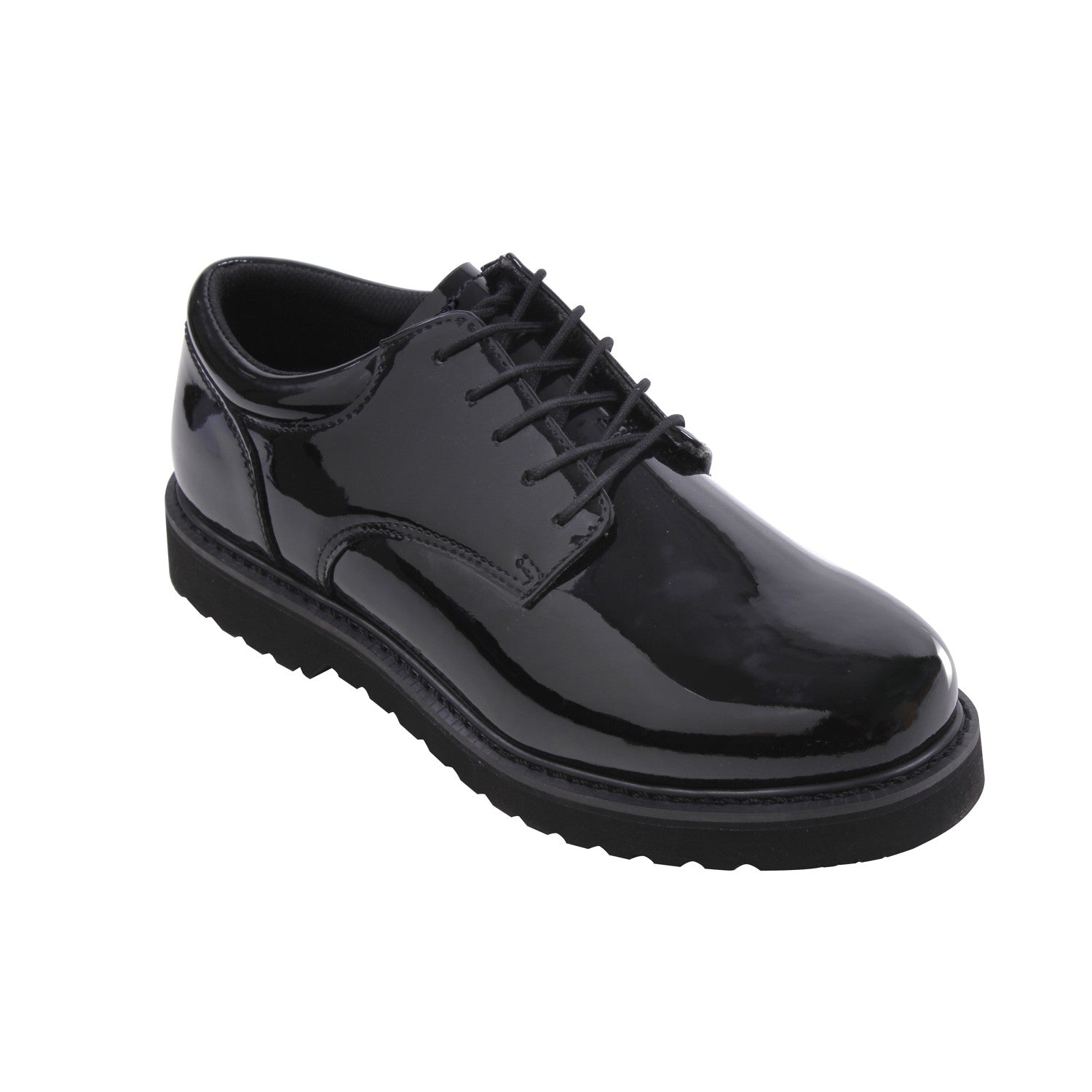 Military Uniform High Gloss Oxford Dress Shoe With Work Sole