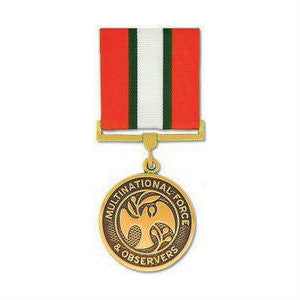 Multinational Force and Observers Medal Anodized