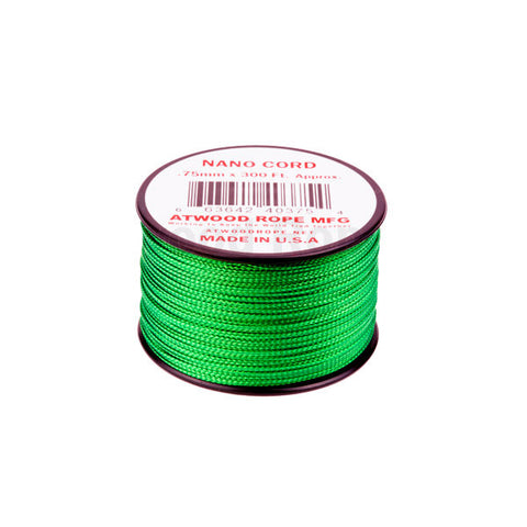 300Ft 0.75MM Nano Cord Green - Indy Army Navy
