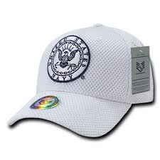Navy Air Mesh Hat White
