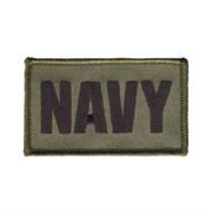 Navy Hook & Loop Patch Olive Drab - Indy Army Navy