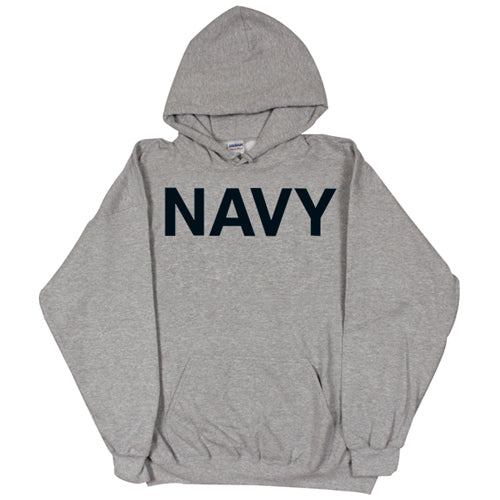 Navy PT Hoodie Sweatshirt Grey - Indy Army Navy