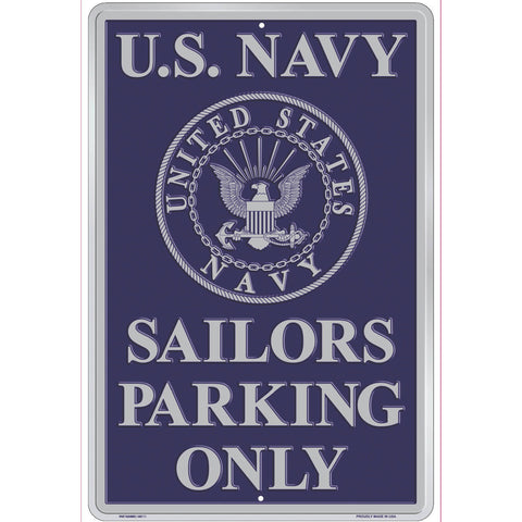 Navy Sailors Parking Only Parking Sign
