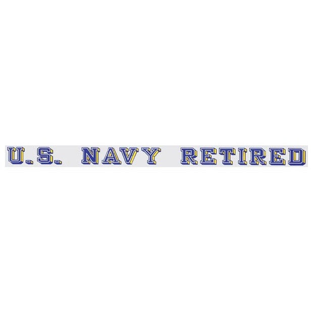 Navy Retired Strip Decal