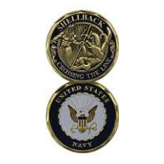 Navy Shellback Challenge Coin - Indy Army Navy