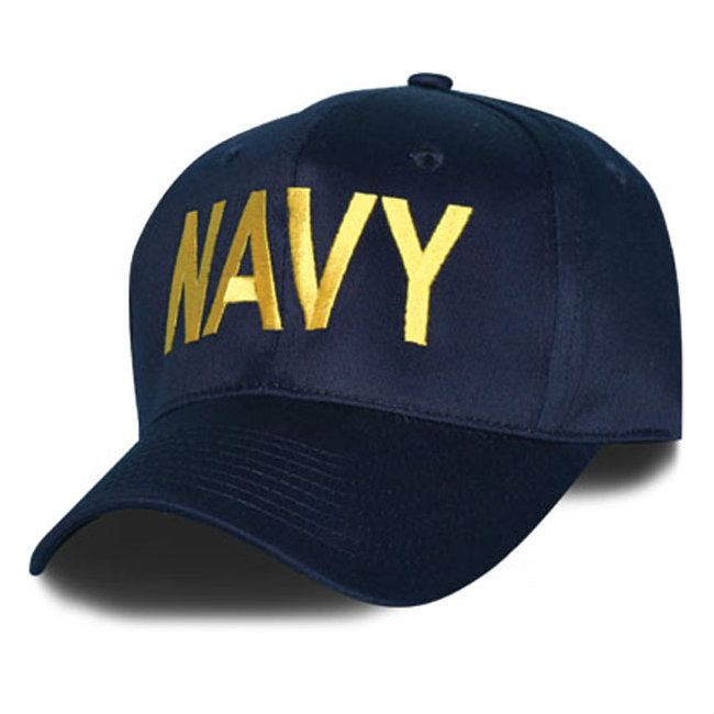 Navy Text Hat Blue