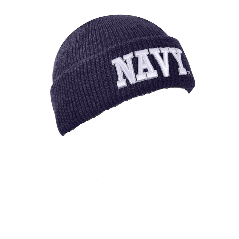 Navy Text Watch Cap Navy Blue - Indy Army Navy