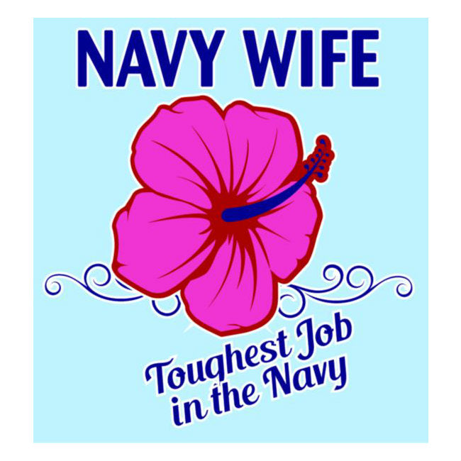 Navy Wife With Flower Decal