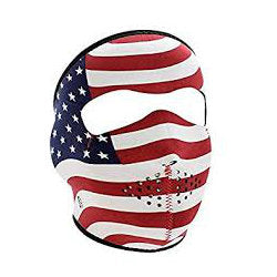 Neoprene Full Face Mask USA Flag - Indy Army Navy