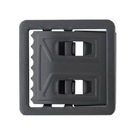 Open Face Web Belt Buckle Black