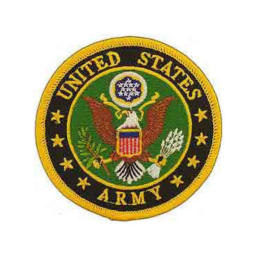 Army Crest Patch Color 3""