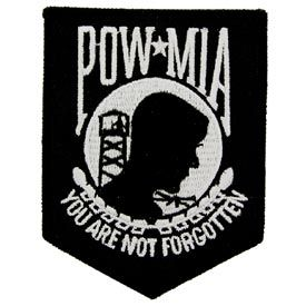 POW / MIA Patch Black