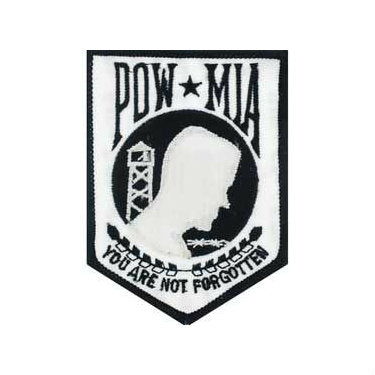 POW / MIA Patch White