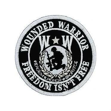 Wounded Warrior Round Patch 3""
