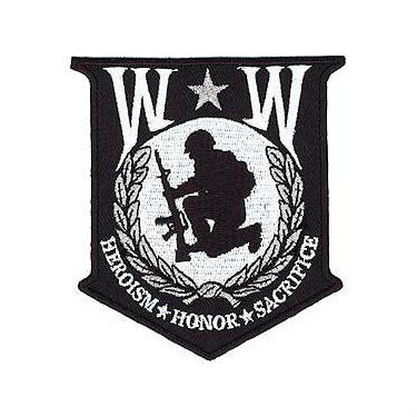 Wounded Warrior Shield Patch Black