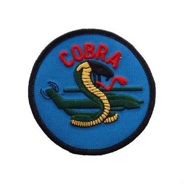 Round Cobra Helicopter Patch