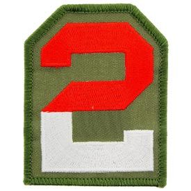 2nd Army Division Patch Full Color - Indy Army Navy