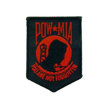 POW / MIA Patch Black / Red