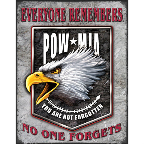 Legends POW-MIA Eagle Tin Sign