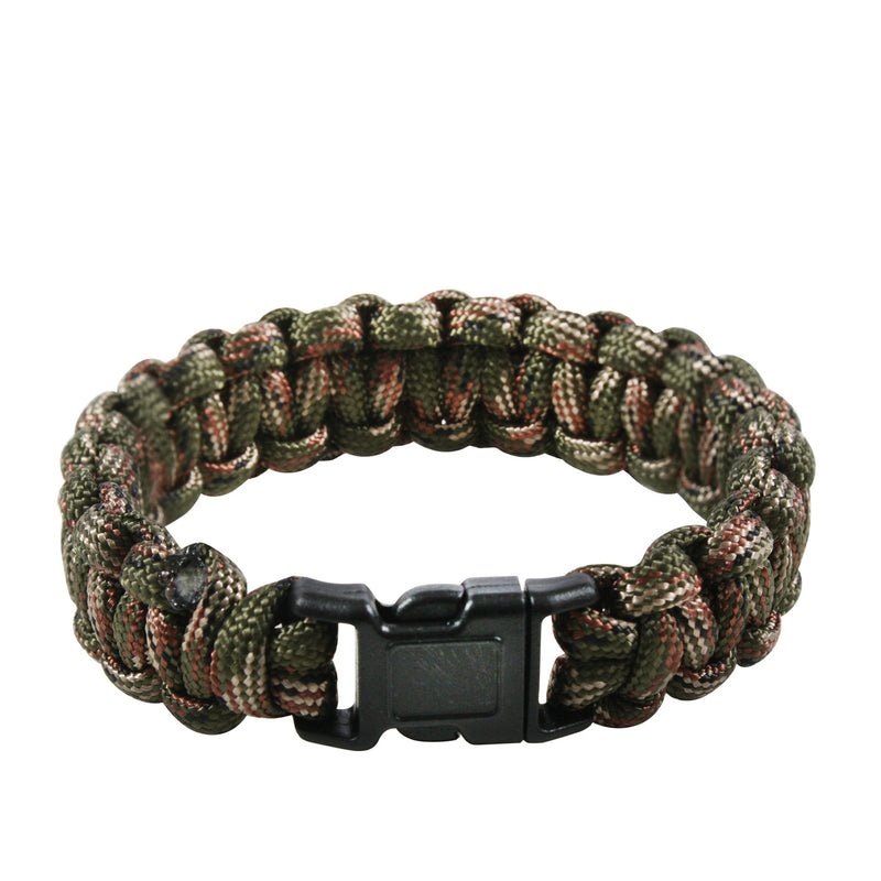 Paracord Bracelet Green Camouflage