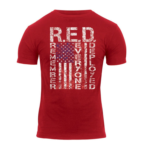 R.E.D. (Remember Everyone Deployed )T-Shirt Red