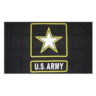 Embroidered Army With Star Flag 3'x5'