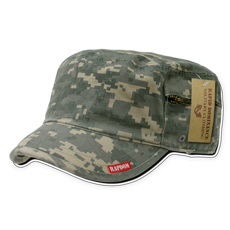 Adjustable Patrol Cap With Zipper