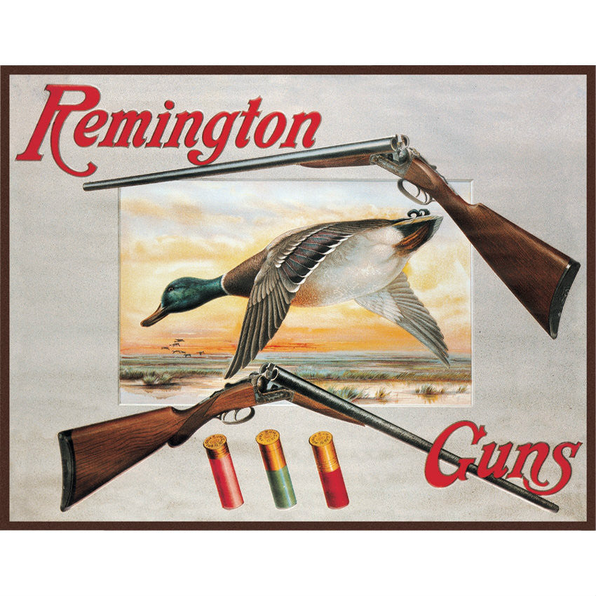 Remington Shotguns Ducks Hunting Sporting Cartridges Rifles Tin Sign