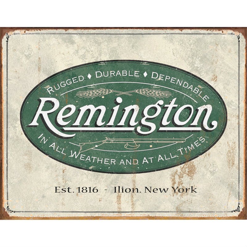 Remington Weathered Tin Sign