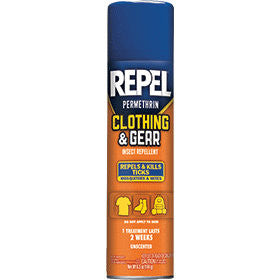 Repel Permethrin Clothing & Gear Insect Repellent Aerosel Spray 6.5 oz.