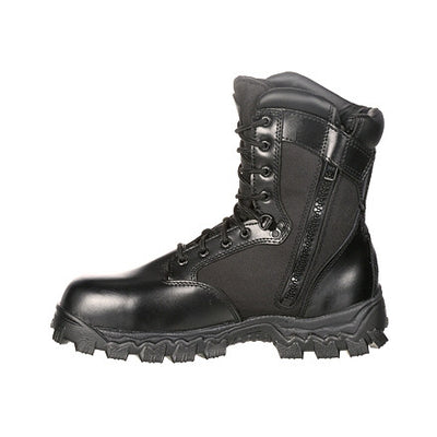 Rocky AlphaForce Zipper Waterproof Duty Boot Black 8""