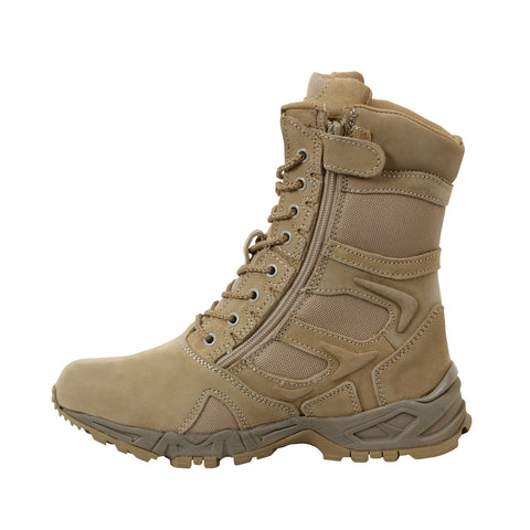 "Forced Entry Desert Tan 8"" Deployment Boot With Zipper"