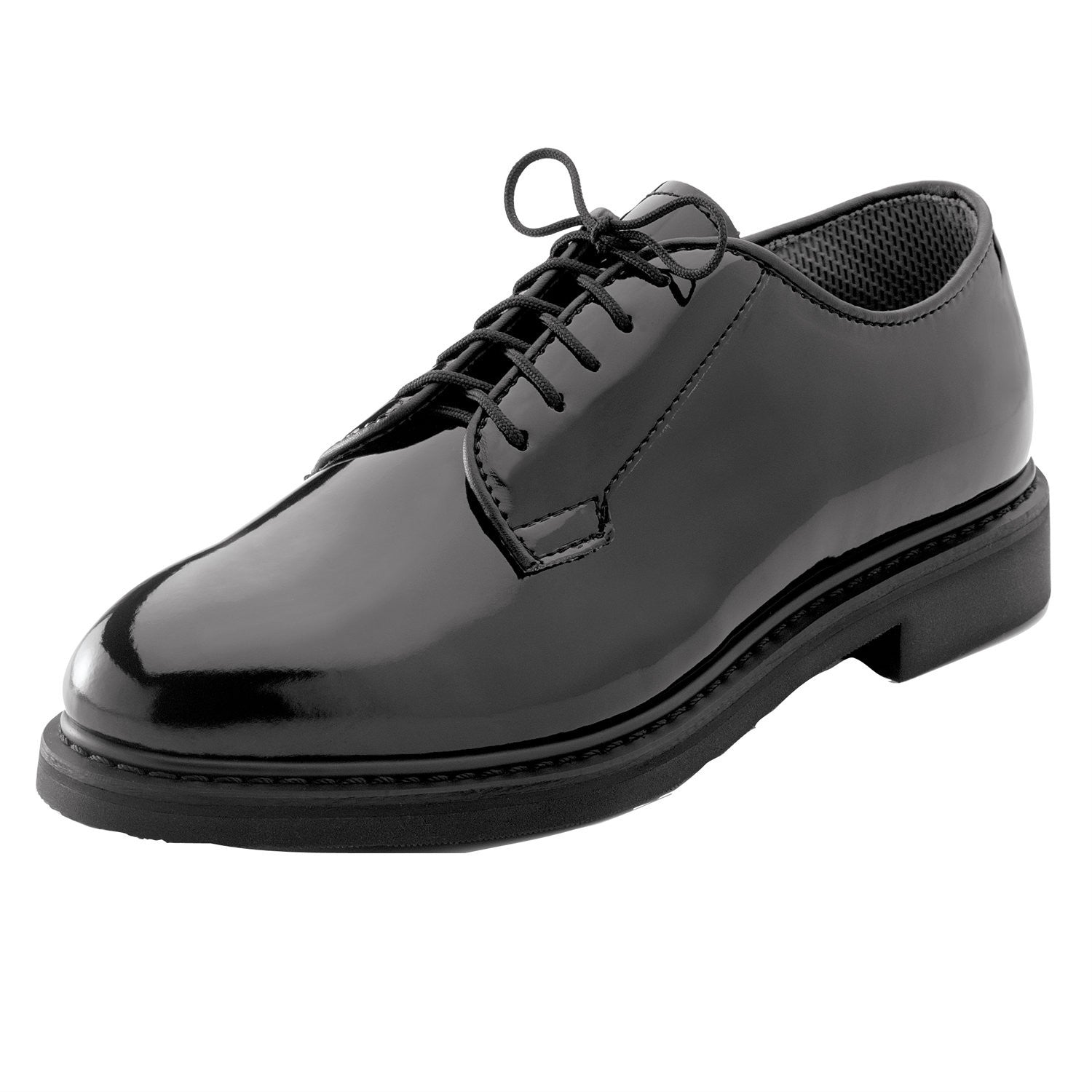 Uniform High Gloss Oxford Dress Shoe Black - Indy Army Navy