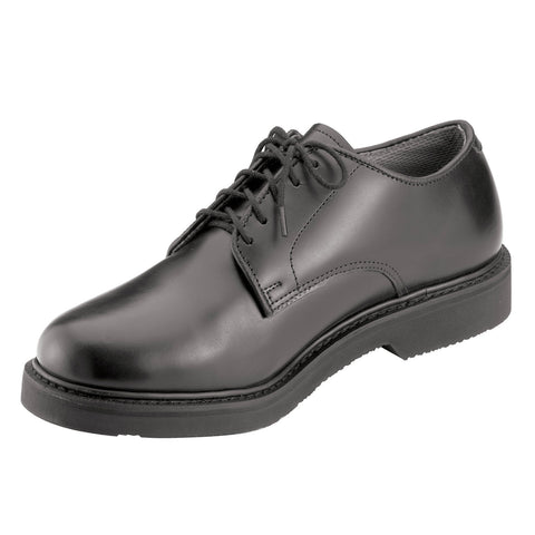 Military Uniform Oxford Leather Shoe Black